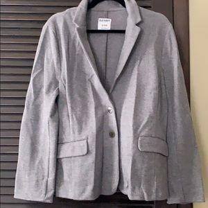 Gray cotton blazer
